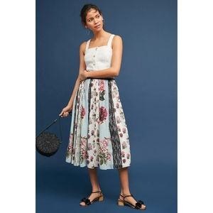 NEW Anthropologie Verb Condorcet Floral Skirt sz 4